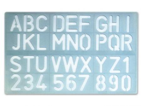 Régua molde de alfabeto